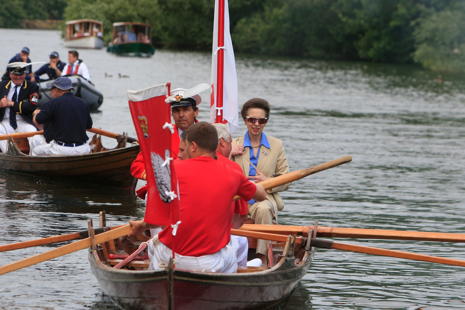 Princess Royal takes to the skiffs
