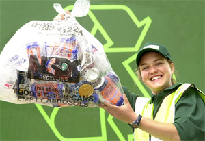 Recycling girl