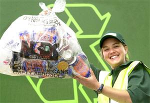 Recycling girl