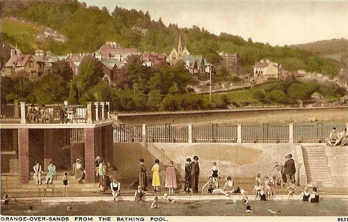 Grange-over-Sands from the Bathing Pool, late 1930s